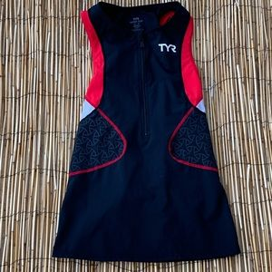 TYR COMPETITOR CYCLING JERSEY W/BOTTLE HOLDER XS